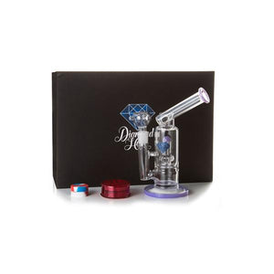 Diamond Haze Percolator Glass Bong In Hard Case - XD75