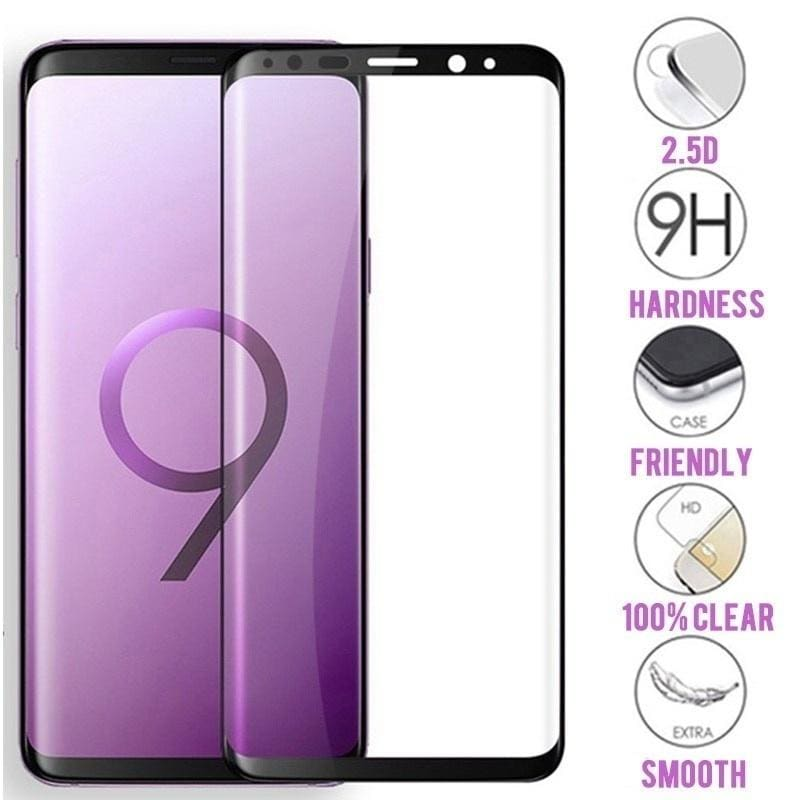 1-3PCS  Full Curved Tempered Glass for Samsung Galaxy S7 S8 S9 S10 plus Note 8 9 10 plus S8Plus S9Plus Screen Protector Protective Glass Film,