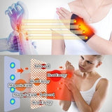1 Pair Health Care Tourmaline Self-Heating Wrist Brace Band Support Far Infrared Magnetic Therapy Pads Braces