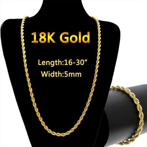 16-30 Inches Men Women Necklace European Fashion Luxury Gold Chains for Men Women 18K Gold Plated Chain Necklace Bride Wedding Engagement Fine Jewelry Necklaces for Women Colar De Ouro
