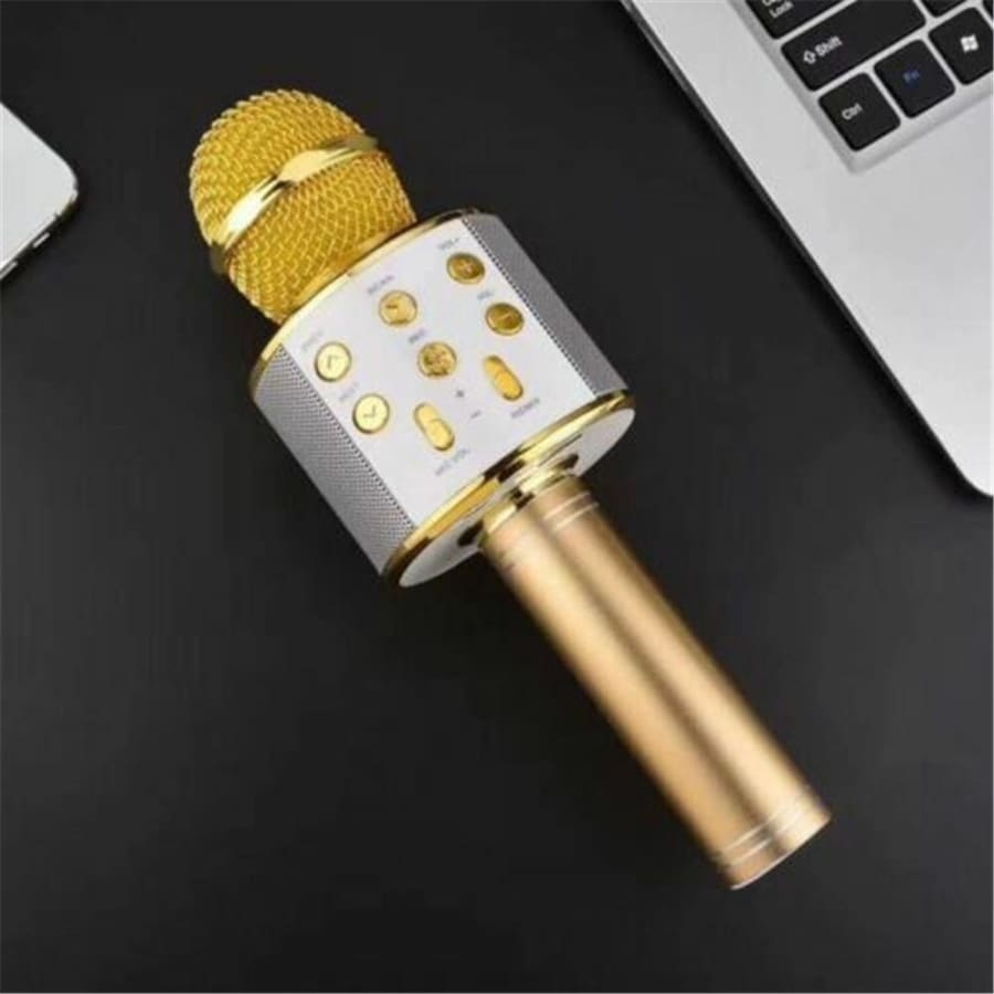 1800mAh Handheld Wireless Bluetooth Microphone KTV Karaoke Microphone with Speaker for IOS Android Phone Computer