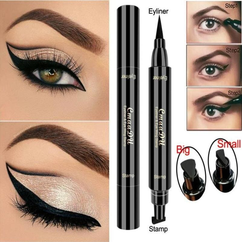 1PCS CmaaDu Liquid Eyeliner Pencil Super Waterproof Black