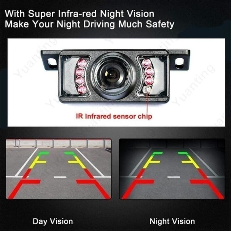 2020 Built-in Wireless Waterproof Night Vision System Reverse Backup Car Camera with 5' Monitor Kit