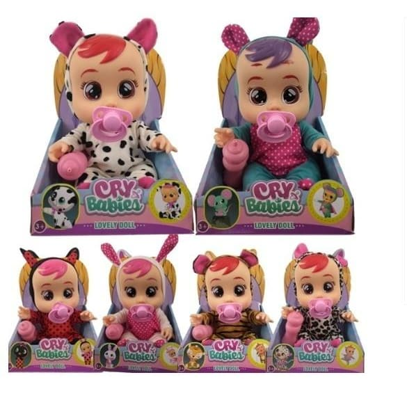 2020 New 8 inch Cry Babies Doll Magic Tears Silicone Toy