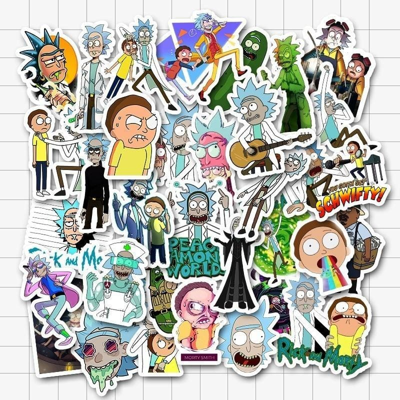 25/50 PCS Available Rick and Morty Themed Cartoons Stickers