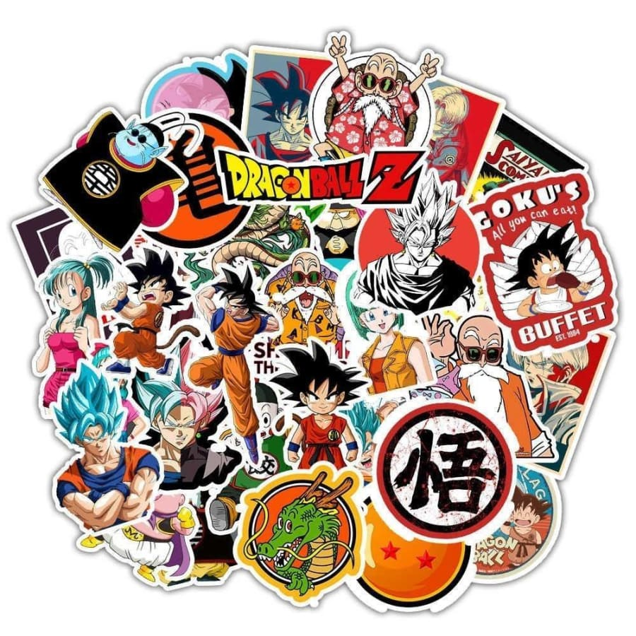 25/50Pcs Anime ONE PIECE Naruto Stickers For Car Laptop PVC Backpack Home Decal Pad Bicycle Waterproof Decal