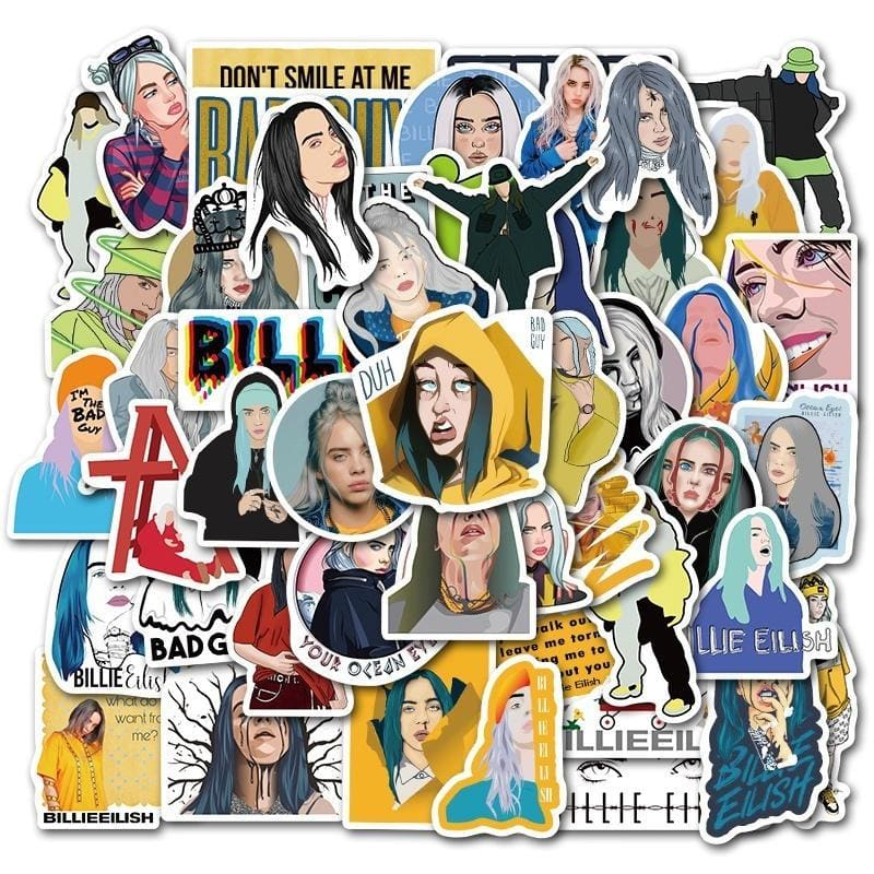 25/50PCS Fashion Billie Eilish and Cool Inspirational