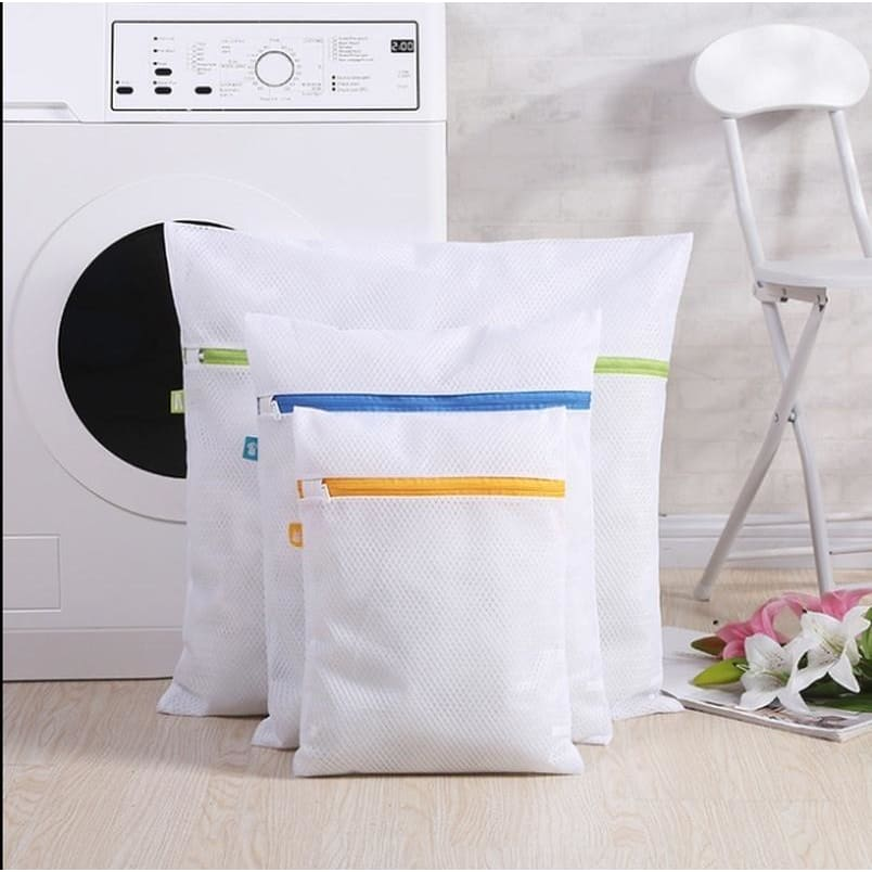 3PCS Creative New Environmental Protection Thick Net Bra Wash Bag Folding Underwear Laundry Bag Net Bag