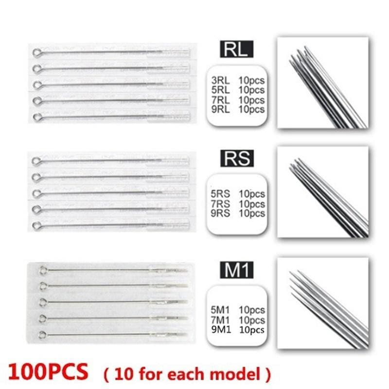 400/200Pcs Tattoo Needles & Cartridges Set 200/100Pcs