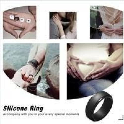 4pcs / set of men's and women's arc step silicone ring outdoor sports ring