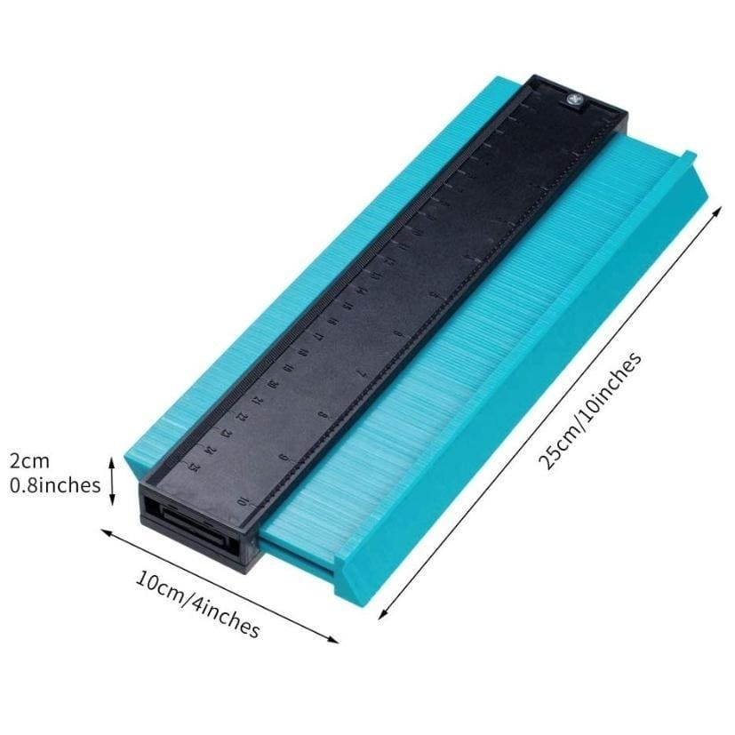 5/6/10/15in Contour Gauge 10Inch/ 5Inch Profile Gauge Measure Ruler Contour Duplicator for Precise Measurement Tiling Laminate Wood Marking Tool