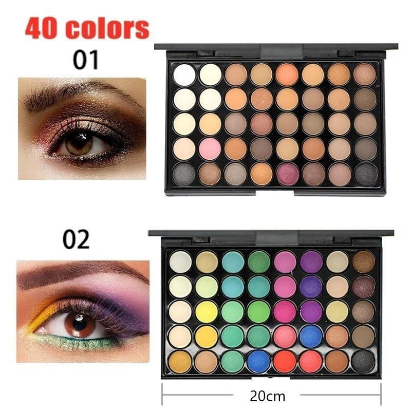 74/40 Colors New Professional Makeup Cosmetic Set Eyeshadow Palette Lip Gloss Blusher Concealer Kit