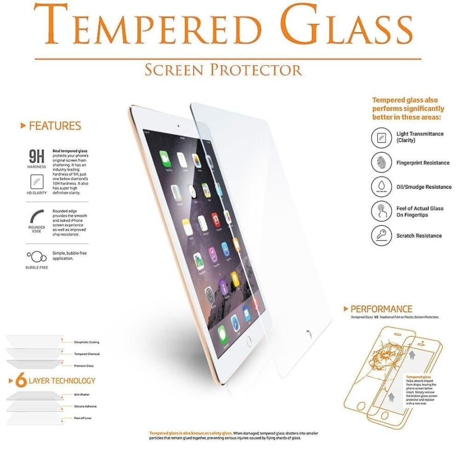 9H Screen Protector For iPad Pro 11 10.5 Tempered Glass On For iPad 10.2 2019 2017 2018 9.7 Air 1 2 3 mini 4 5