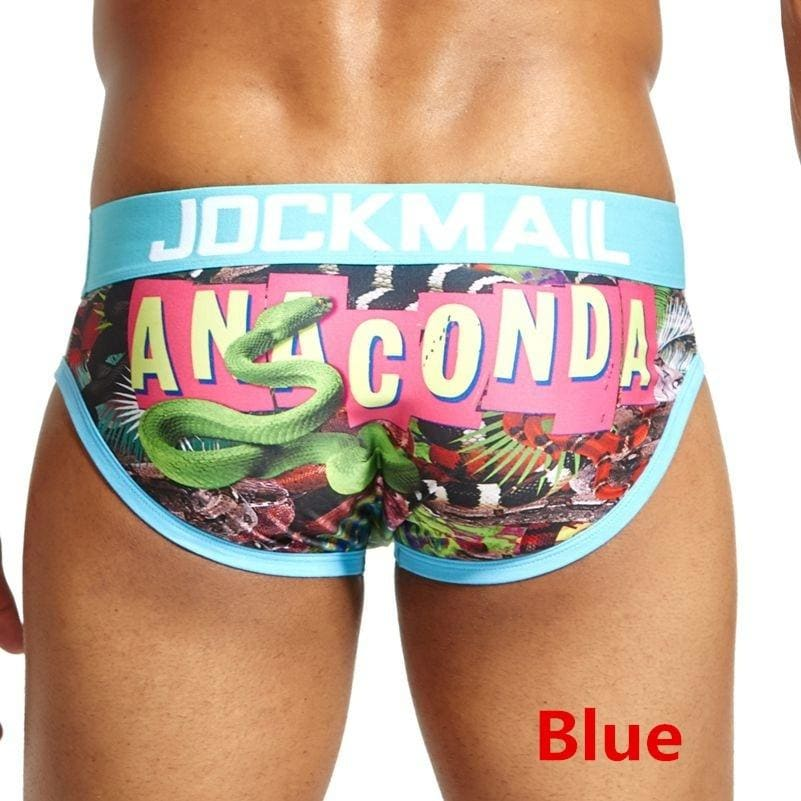Brand Underwear Men Briefs Cuecas Playful Printed Underwear