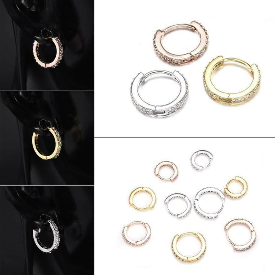 Cartilage Tragus Cz Ear Piercing Body Jewelry Huggie Hoop