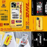 DHL LOGO Kpop Street Style Phone Case Cover DHL Tumblr Print for Iphone  6/6S/6Plus/6SPlus/7/7Plus/8/8plus /X/XS/xr/XS MAX/11/11 Pro/11 Pro Max Mobile Case