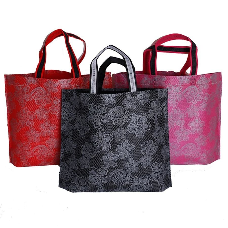 Grocery Eco Non-woven Casual Large Capacity Lady Foldable Portable Nylon Shoulder Bag Handbags Pouch Shopping Bag