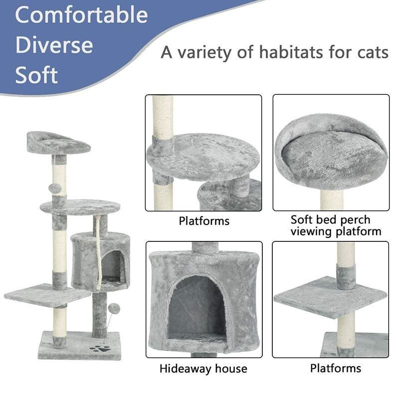 Multi-Level Cat Tree Tower Condo with Cat Scratching Post
