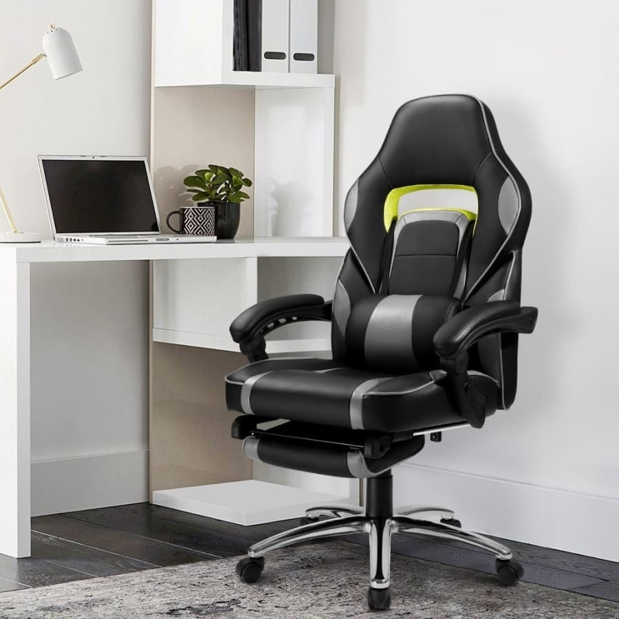 New Computer Gaming Office Chair Racing Style Faux Leather