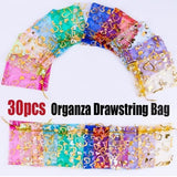 New Exquisite 30PCS Organza Drawstring Bag Gift Bag Jewelry Party Festive  Cosmetic Bag