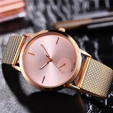 New Fashionable High Hardness Glass Mirror Men and Women General Mesh Belt Watch