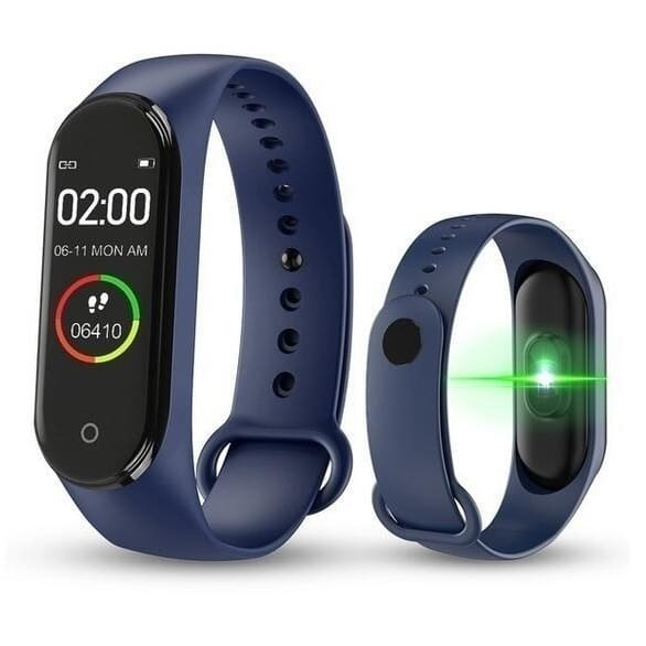 New Mi Band 4 Bluetooth Music Smart Bracelet 0.95 AMOLED Color screen 50M 135 mAh Waterproof 3-color sports strap