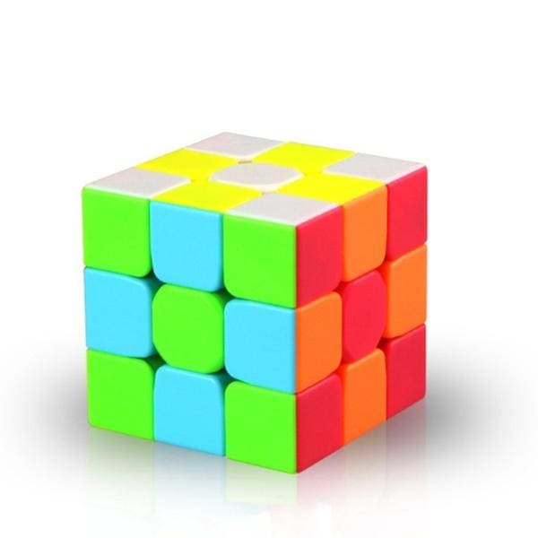 Qiyi Speed Cube 3x3 Magic Cube Warrior W 3x3 Stickerless Puzzle