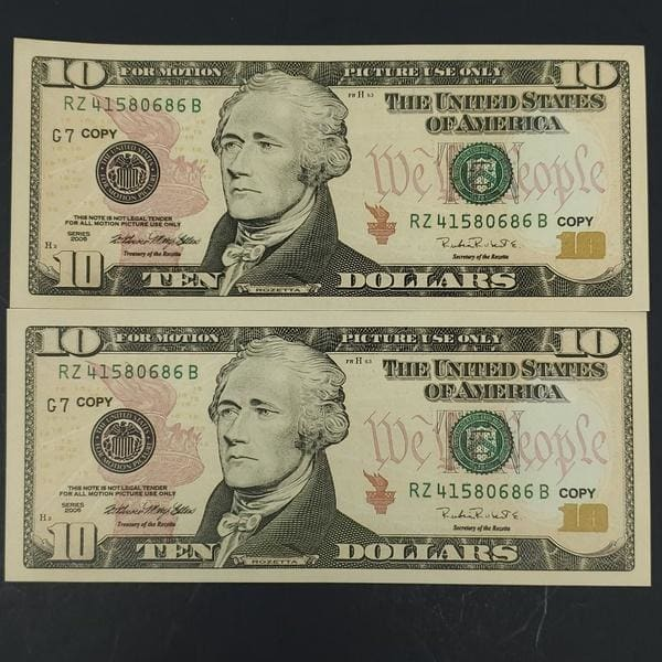 Replica Copy Money 25 // 50 // 75 // 100  Pieces X  $ 10 Movie Copy Money for Advertising ,Training, Novelty, Media Productions, Commercials