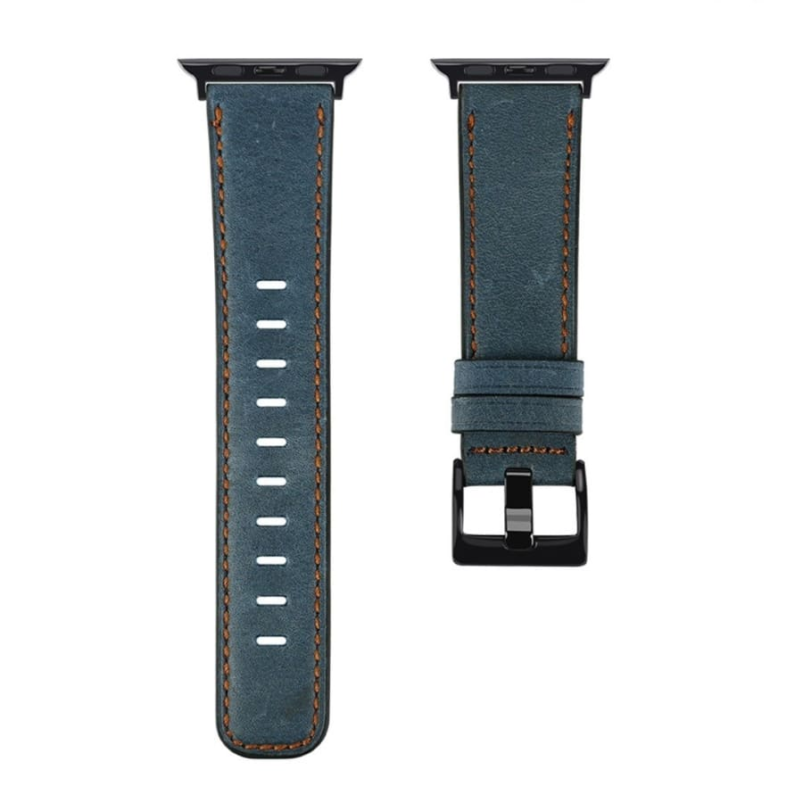 Retro Leather Wrist Band Strap for Apple Watch Series 5 4 3