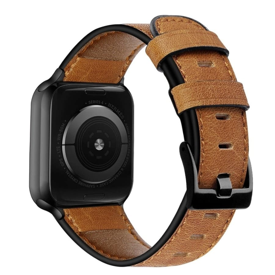 Retro Leather Wrist Band Strap for Apple Watch Series 5 4 3 2 1