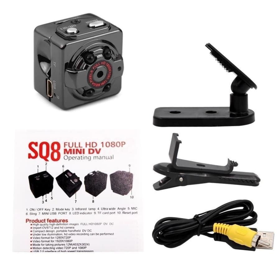 SQ6/8/11 Full HD 1080P Mini Camera Hidden DV DVR Camera Security Camera System SpyCam IR Night Vision Camera Surveillance