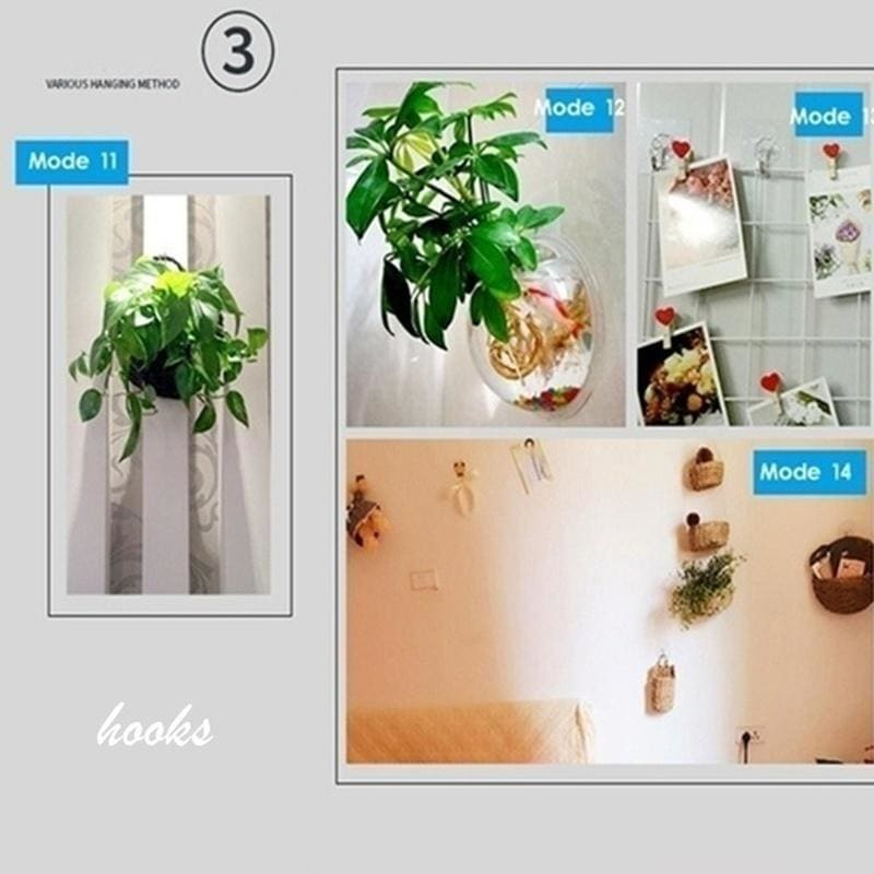 Strong Hook Wall Hook Wall 8/12/18 PCS Sticky Hook Sucker Wall Hooks Transparent Magic No Trace Hook for Bathroom Kitchen