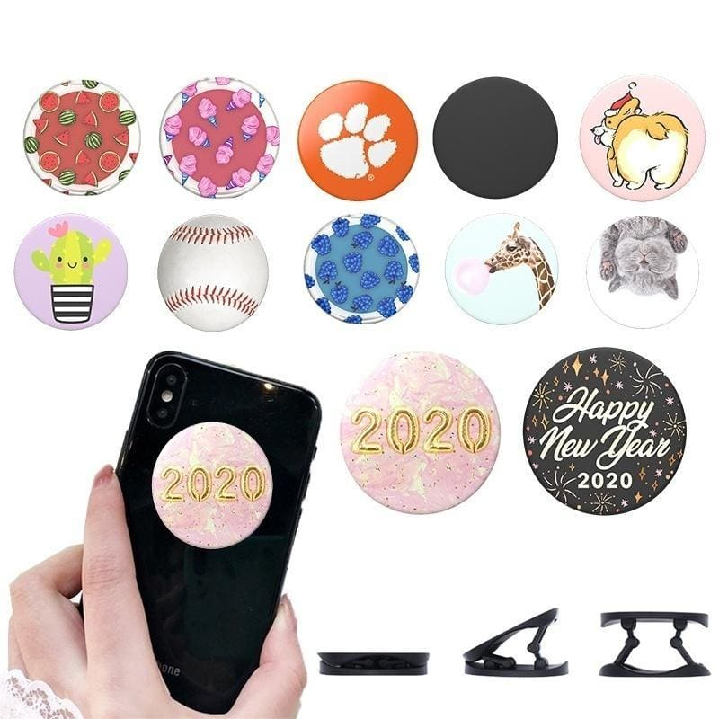 Universal 3D Animal Painted Phone Holder Expanding Finger Grip Flexible Phone Stand for Iphone 11 Samsung Note 10 Huawei Mate 30