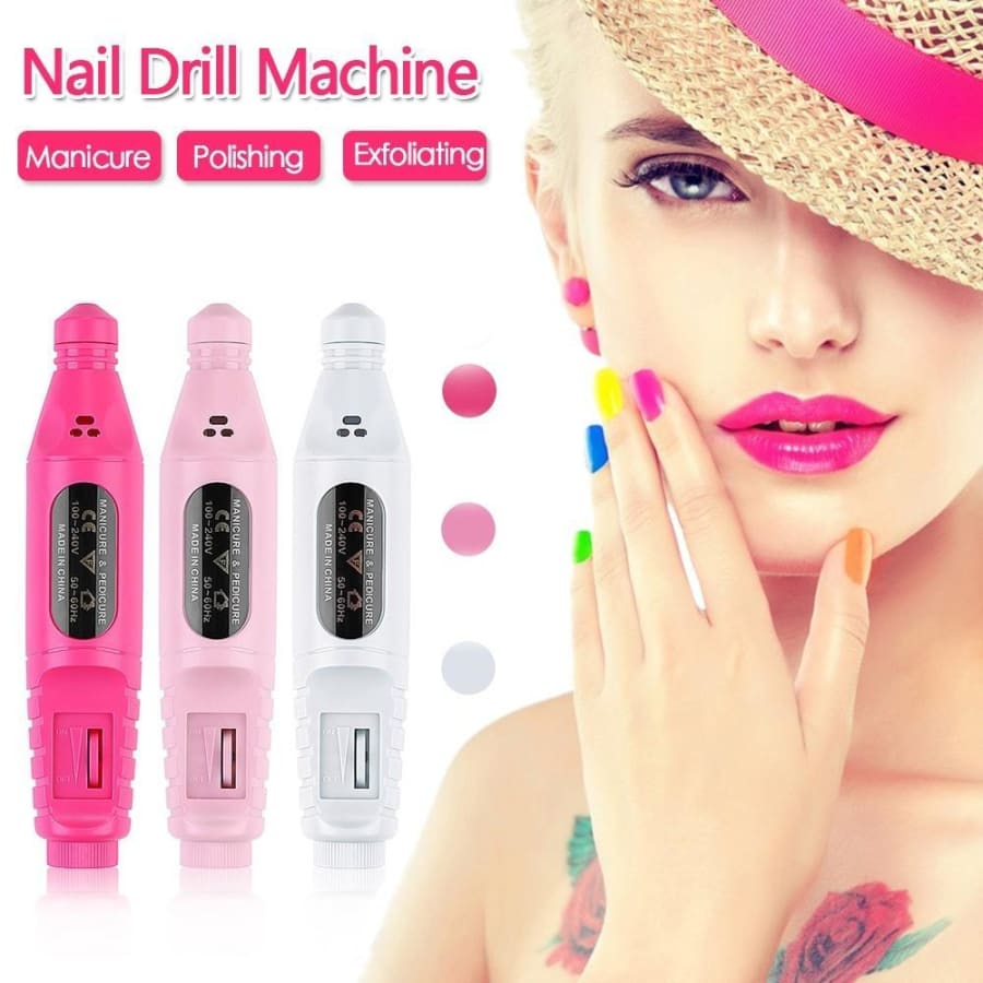 USB Charging Electric Nail Drill Machine Polish Grinding Nail Art Manicure Tool