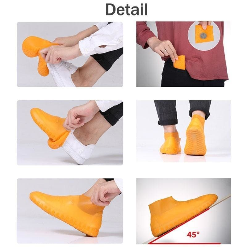Waterproof and Rainproof Shoe Cover Simple Storage Non-slip Wear-resistant Thick Rain Boots