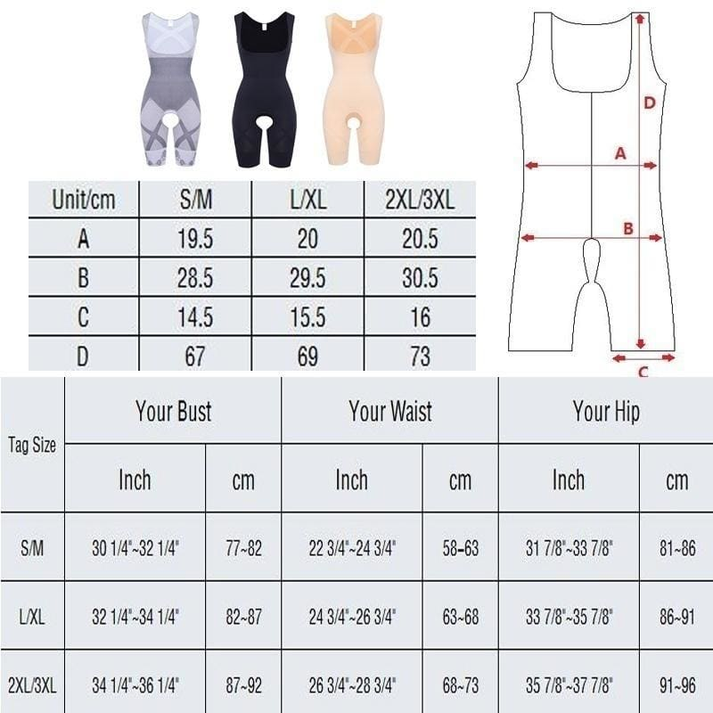 Women Bodysuit Shapewear Full Body Shaper Waist Trainer Slimming Corset body shapers seamless Abdomen Shapers Tummy Control Gaine Amincissant