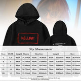 Women Man Fashion Lil Peep Helloboy Letter Printed Hoodies Casual Hip Hop Street Style Outwear Hooded Sweatshirt Pullover Tops