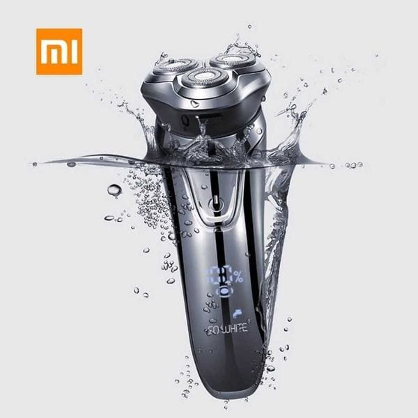 Xiaomi SO WHITE ES3 3D Smart Electric Shaver USB Rechargeable 3 Head Intelligence Control Razor Waterproof Beard Trimmer