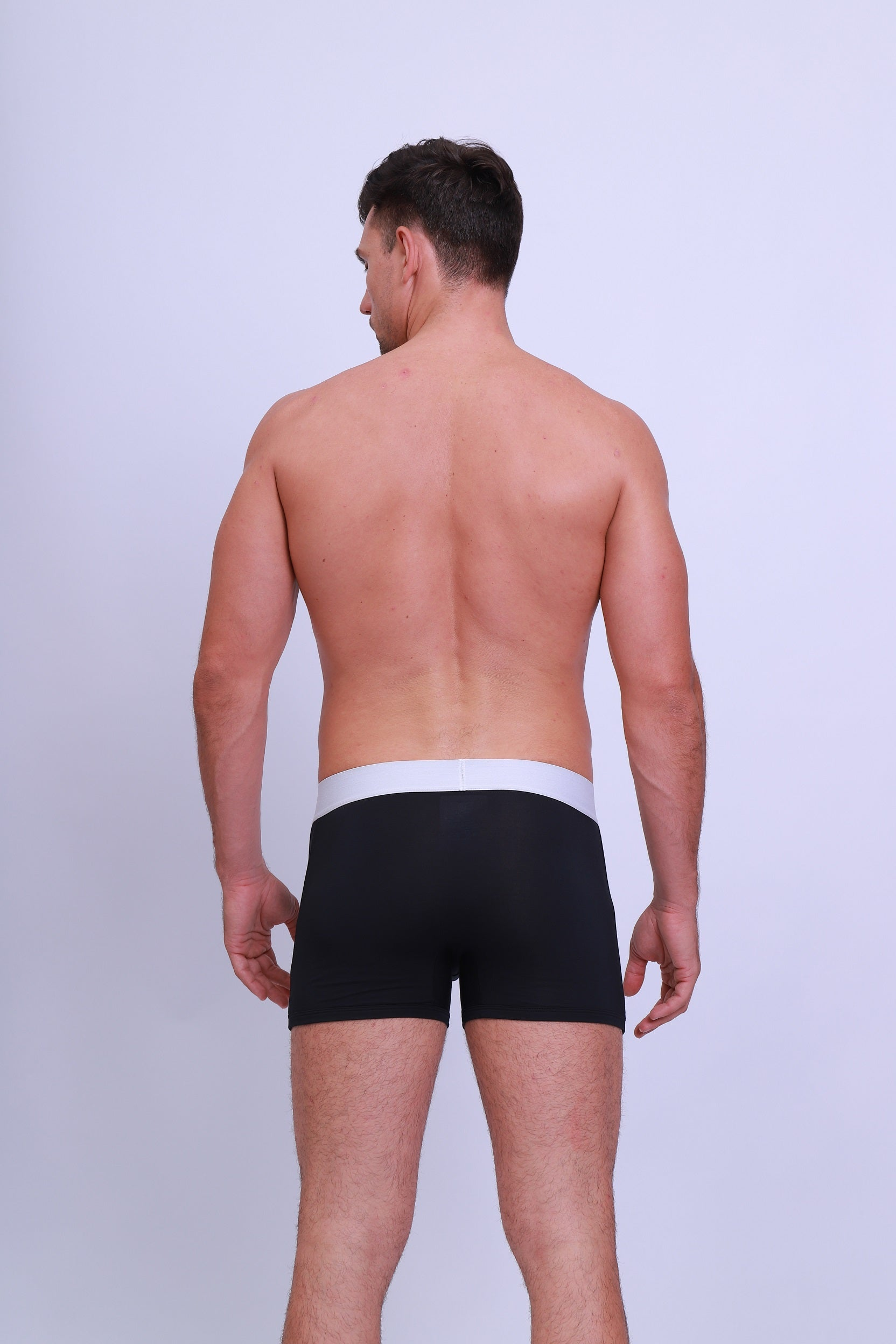 Men's Premium 95% Micro-Modal Black Underwear - Casual Daddy