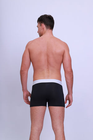 Single Pack Men's Premium 95% Micro-Modal Black Underwear- Comfort Cool Wear - Casual Daddy