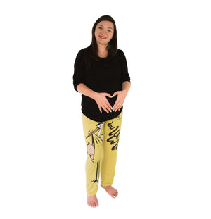 Womens Maternity Pajama Bottoms with Delivery Stork by Casual Daddy - Casual Daddy