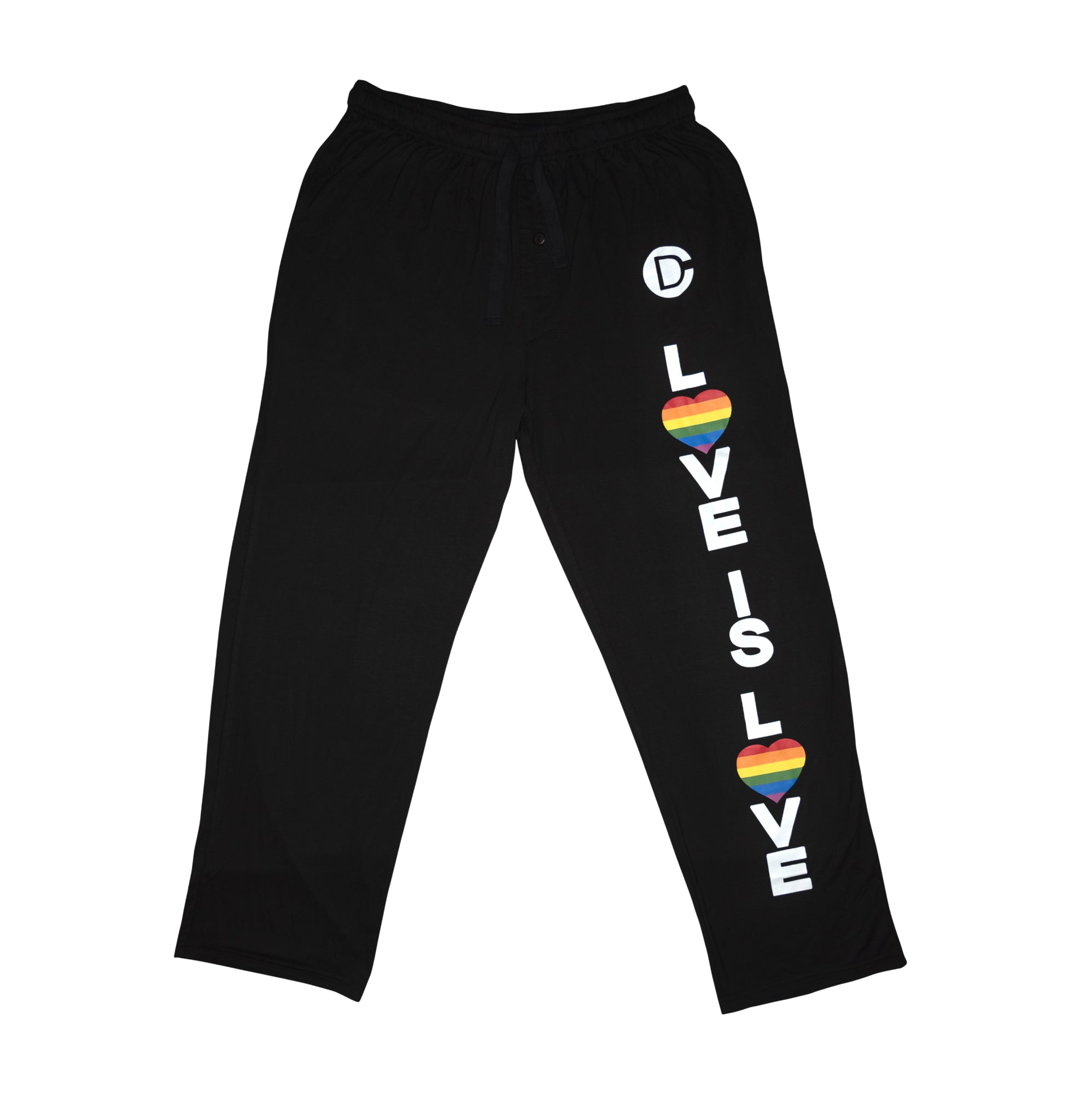 Men & Womens Love is Love Traditional Pajama Bottoms with Pockets by Casual Daddy - Casual Daddy
