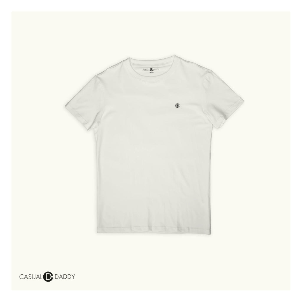 White Casual Daddy Ice Porcelain Cool Wear T-Shirts - Casual Daddy