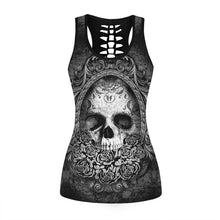 Load image into Gallery viewer, Women Sexy Tank Tops Skull Tank Vest Punk Tank Tops Sleeveless Printing Shirts