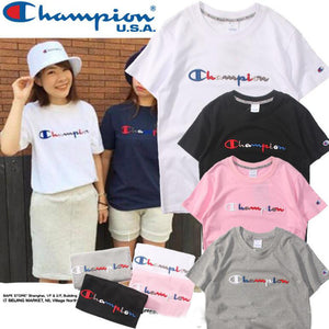 Women T shirt men champion Tees shirt embroidery
