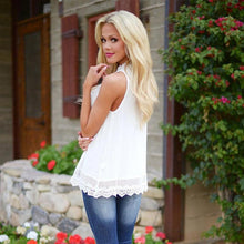 Load image into Gallery viewer, Tops high quality girls Fashion lace Vest Sleeveless t-Shirt
