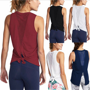 Women Gym Shirt Summer Yoga Tank Top Quick Dry Mesh Sport