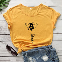 Load image into Gallery viewer, Cotton T Shirt Bee Kind