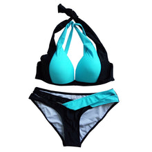 Load image into Gallery viewer, Mix color sexy two piece adjust bust Summer Style Bikini Set