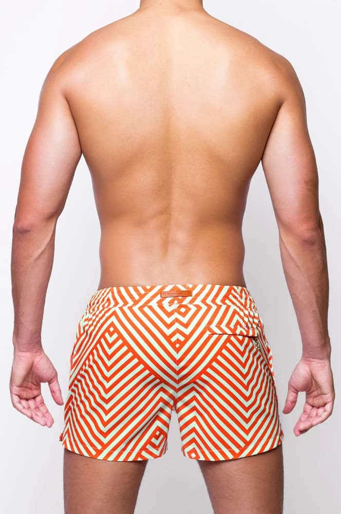 Shop 2EROS Avant Orange Swim Shorts